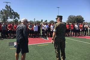 Tease photo for SDSU Aztecs Practice Before Marines, Work To Boost Fan Base