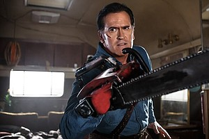 Tease photo for Bruce Campbell Signing At Mysterious Galaxy Bookstore