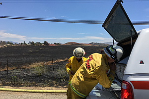 Crews Subdue 35-Acre Ramona Brush Fire