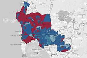 Maps Of Final 2018 Primary Election Results In Key San Di...