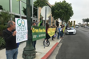 Protesters Target Rep. Davis For Green New Deal In San Diego