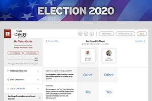 Election 2020: How To Use The KPBS General Election Voter Guide