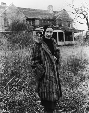 "The real ""Little Edie"" Beale in front of her East Hampton home."
