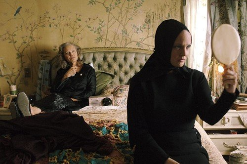 Jessica Lange and Drew Barrymore in HBO's Grey Gardens.
