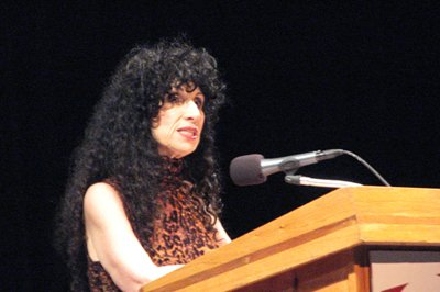 Diane Ackerman reading at the San Diego Jewish Community Center.