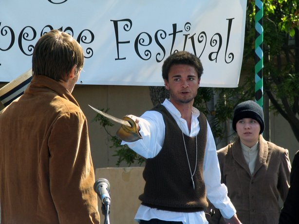 A student in a performance of As You Like It from last year's festival.
