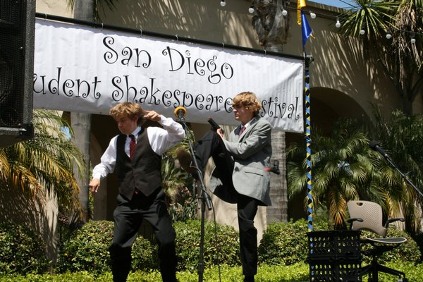 A lively performance of Shakespeare from one of the five stages at this past Sunday's festival.