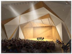 Artist's rendering of the Conrad Prebys Concert Hall.