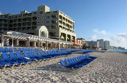 Tourists are a rare sight on the beaches of Cancun, Mexico, since the swine f...