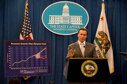 Governor Schwarzenegger unveils two May Revision proposals to deal with two potential budget scenarios.