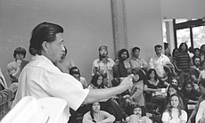 Cesar Chavez speaks to students at San Diego State University.