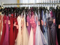 Prom dresses are offered in every color of the rainbow.