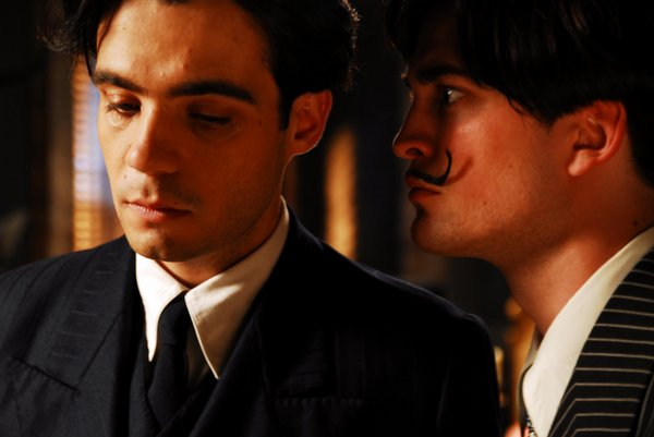 "Javier Beltran as Federico Garcia Lorca and Robert Pattinson as Salvador Dali in ""Little Ashes"""