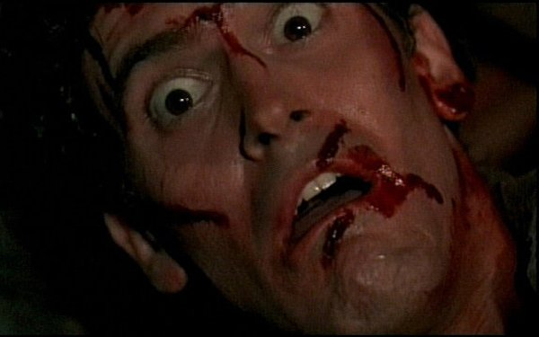"Bruce Campbell takes on all comers in ""Evil Dead II"" at Stone Brewing, Co. June 10. Groovy!"
