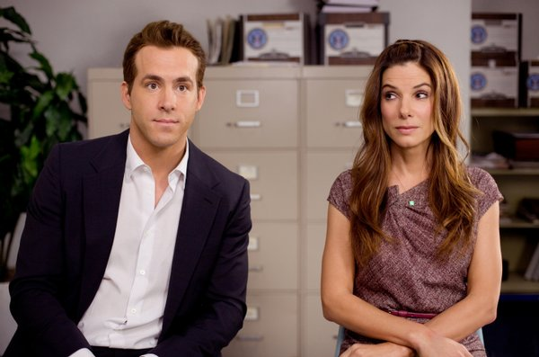"Ryan Reynolds and Sandra Bullock in ""The Proposal"""
