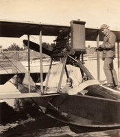 George Leo Compo on board the Seagull, the plane he flew for the United States Navy in 1920.