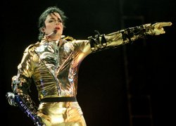 Michael Jackson performs on stage during is 'HIStory' world tour concert at E...