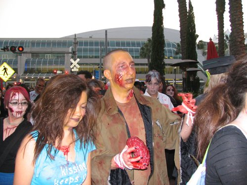 World Zombie Walk attracted upwards of a hundred undead