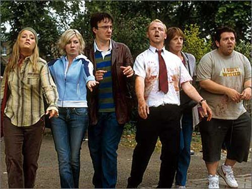"Act like a zombie... ""Shaun of the Dead"""