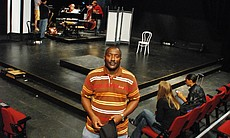 Anthony Drummond is wrote Jazz Queens Cast Blue Shadows, under the guidance of Dr. Floyd Gaffney, the longtime artistic director of Common Ground theater.  Drummond also plays the club announcer in the musical.