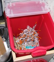 San Diego's clean syringe exchange collected 183,000 used needles in 2008.