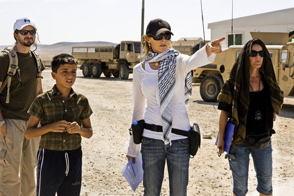 "Kathryn Bigelow (center) on location in Jordan for ""The Hurt Locker"""