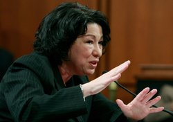 Supreme Court nominee Judge Sonia Sotomayor testifies on the third day of con...