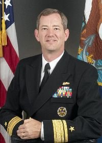 Rear Admiral Len Hering, outgoing commander of Navy Region Southwest.