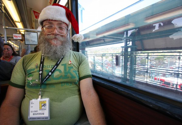 Comic-Con volunteer Carl McCall.
