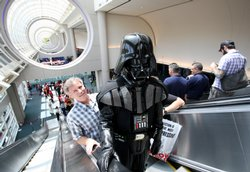 Darth Vader ascending at Comic-Con, 2009