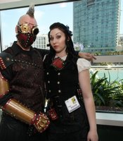 Steampunk couple.