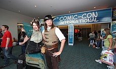 Scott and Gail Folsom visiting the Comic-Con convention floor. (1679)