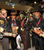 Steampunks on the convention floor.