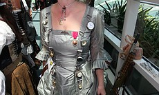 San Diegan Heather Hutsell created this dress out of a military-issued parach...