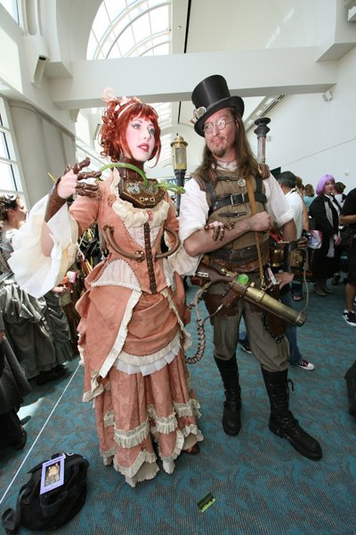 Scott and Gail Folsom at the Comic-Con Steampunk Meetup.