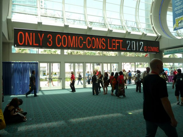 "The film ""2012"" played on the fear that Comic-Con will be leaving San Diego."