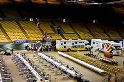 Remote Area Medical is providing free medical care for those in need at the LA Forum.