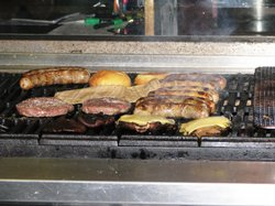 The Linkery sells lots of sausages and burgers. All of the meat comes from gr...