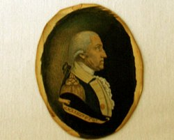 "A miniature color painting labeled ""G. Washington."" On the back of the portra..."