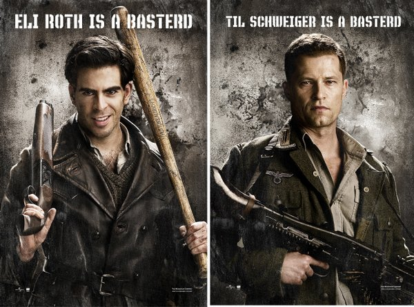"The Bear Jew and Hugo Stiglitz in ""Inglourious Basterds"""