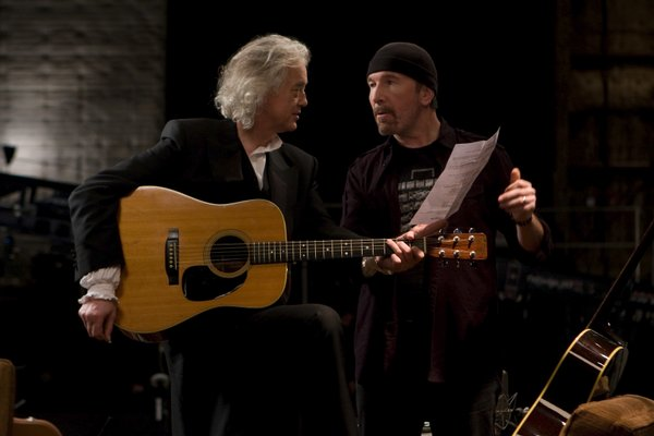 "Jimmy Page and The Edge jam in ""It Might Get Loud"""