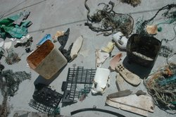 Garbage collected by the SEAPLEX expedition. The debris at the center of the North Pacific Ocean has the potential to damage marine life and alter the biological environment.