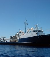 The Scripps Institution of Oceanography at UC San Diego research vessel New Horizon explored the North Pacific Ocean Gyre on Aug. 11, 2009, as part of the SEAPLEX voyage.