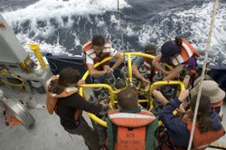 After setting sail aboard R/V New Horizon on August 2, 2009, members of the S...