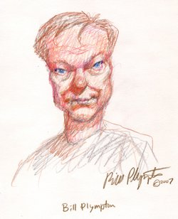 A self-portrait of artist Bill Plympton whose film