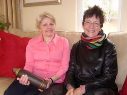HISTORY DETECTIVES host Gwendolyn Wright (right) with Elaine, who believes sh...