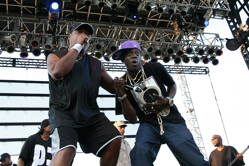 Chuck D and Flavor Flav of Public Enemy performing at Street Scene, 2009