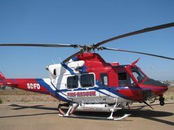 One of two firefighting helicopters the San Diego Fire Department has for fig...