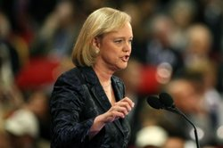 Meg Whitman, former President and CEO of eBay, speaks on day three of the Rep...