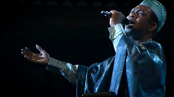 Youssou N'Dour in concert.